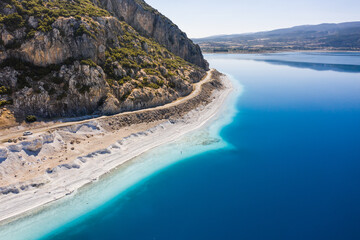 Scenic coast of Salda lake, Turkey