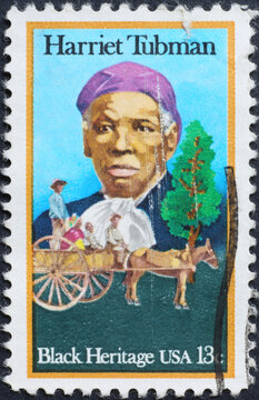 Black heritage, Harriet Tubman on american stamp