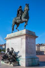 Famous statue of Louis XIV