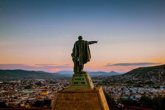 Sunset at Cerro del Fortin in Oaxaca City, Mexico