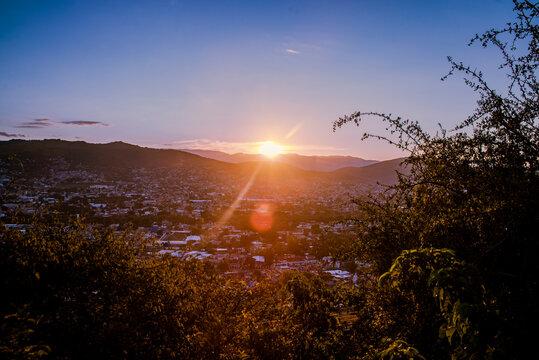 Sunset in Oaxaca City, Mexico