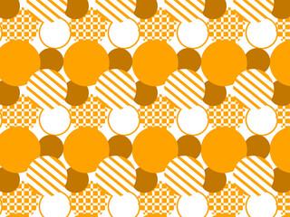 シンプルな丸模様のパターン