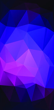 purple vertical vector background. Abstract illustration with triangles grange
