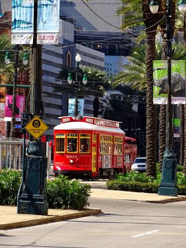North America, United States, Louisiana, New Orleans streetcar