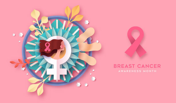 Breast cancer awareness month campaign banner