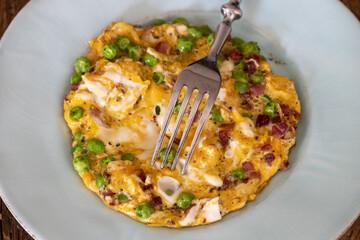 italienische Frittata auf dem Teller