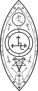 Grand Seal of Lilith Divine Feminine Womb Goddess Seal Sigil Babylonian Queen Female Empowerment Women Vector Occult Witchcraft Symbol