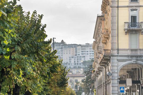Lugano city center, Switzerland