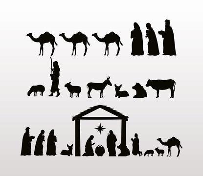 happy merry christmas manger scenes figures