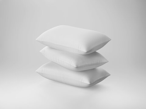 pile of soft white pillows