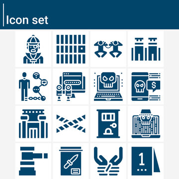 Simple set of treason related filled icons.
