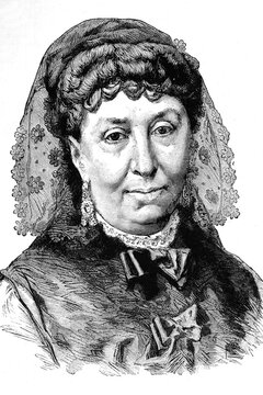 Georges Sand, Amantine, Lucile, Aurore Dupin, French novelist and writer. 1804-1876. Antique illustration. 1875.