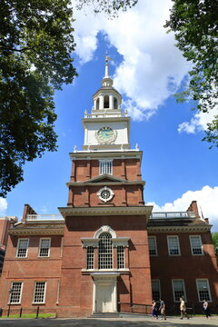South facade of Independence Hall, historical landmark in Philadelphia, USA