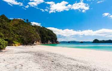 Hahei Beach at Coromandel Peninsula on New Zealand