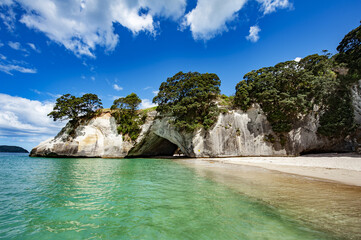 Cave at Cathedral cove in the New Zealand