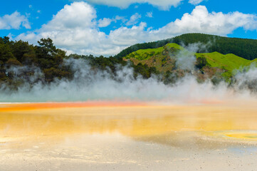 Artist's Palette hot spring in the New Zealand