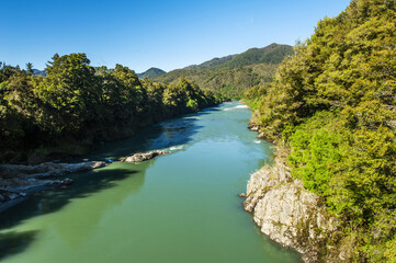 Buller river in New Zealand