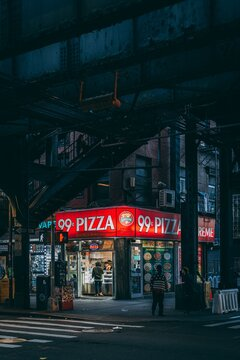 99 Cent Pizza, in Williamsburg, Brooklyn, New York City