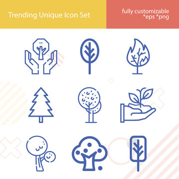 Simple set of plane figure related lineal icons.