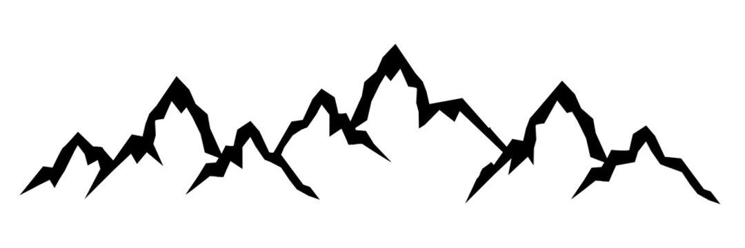 Mountain ridge with many peaks - stock vector