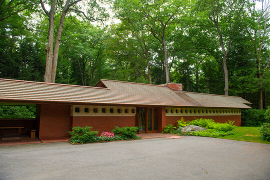 Zimmerman House is a historic house built in 1951 at 223 Heather Street by Frank Lloyd Wright in Manchester, New Hampshire NH, USA.