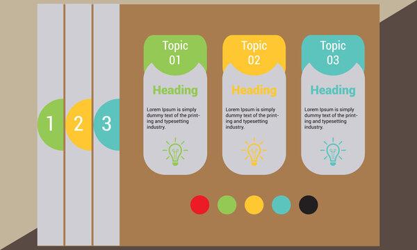 Flat infographic Survey Power Point Presentation design template Free Vector
