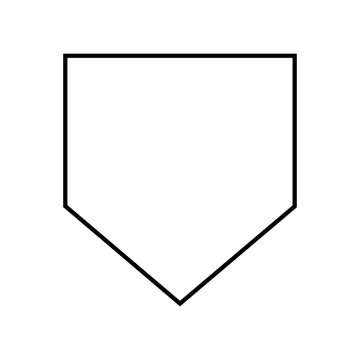 Home Plate silhouette .Home Base Baseball .