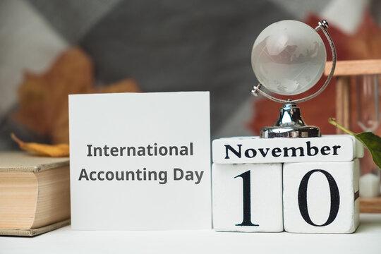 International Accounting Day of autumn month calendar November