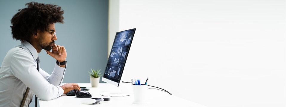 Business Data Analyst Using Computer
