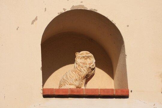 statue de chat à Tourrettes