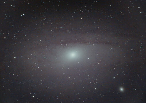 Amateur telescope - Andromeda galaxy