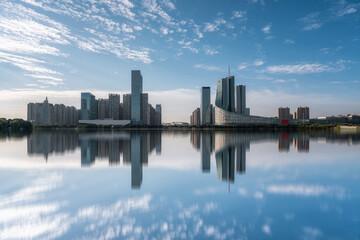 Hefei city modern architecture landscape skyline