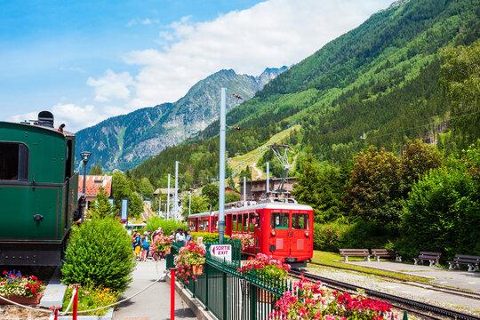 Montenvers train in Chamonix, France
