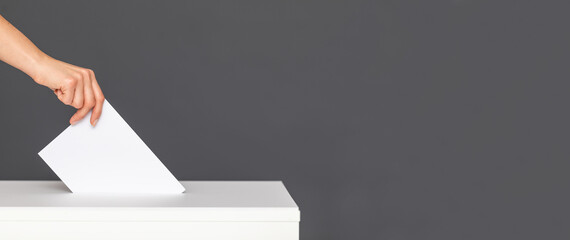 Photo sur Plexiglas Dinosaurs The concept of free democratic vote elections.