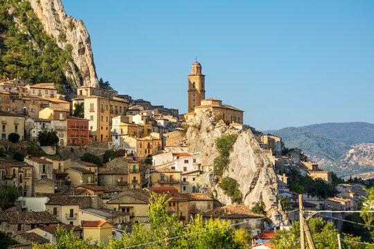 View of the characteristic village of Villa Santa Maria in the province of Chieti (Italy)
