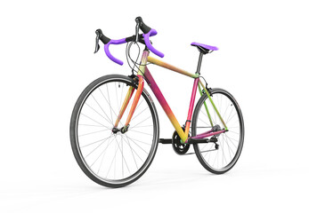 colorful paint bicycle