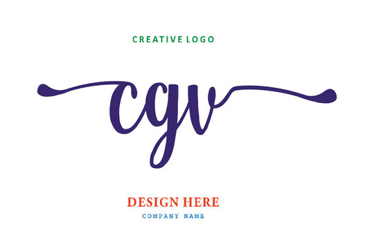 pharmacy logo composition of the letter CGV is simple, easy to understand, simple and authoritative