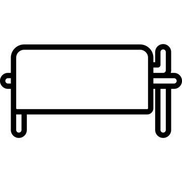 line icon for dead body