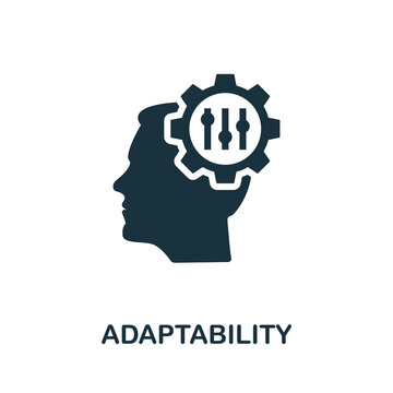 Adaptability icon. Simple element from life skills collection. Filled Adaptability icon for templates, infographics and more