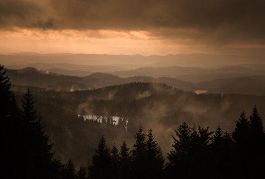 Harz Mountains Sunset