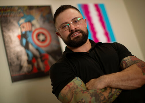 Paulo Batista, a transgender man training to enlist in the U.S. military despite the Trump administration's ban on transgender people