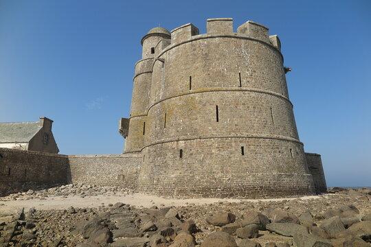 Vauban Turm auf der Insel Tatihou, Cotentin Normandie
