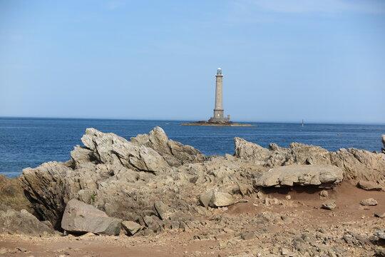 Leuchtturm am Cap de la Hague, Cotentin Normandie