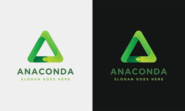 Geometric anaconda logo icon vector on white background