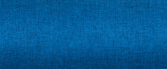 Blue fabric texture background banner