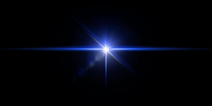 Flare lens light Stock Image In Black Background