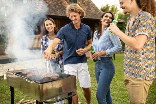 Double date with a barbecue