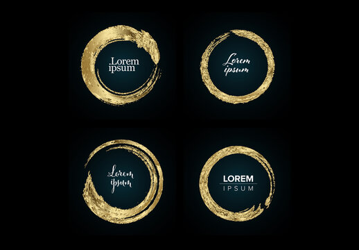 Set of Abstract Golden Rings