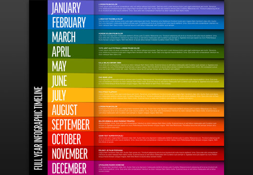 Full Year Stripe Timeline Template