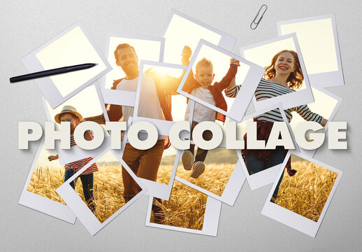 Photo Collage Effect Mockup